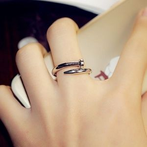 Jewelry - Silver Tone Nail Ring